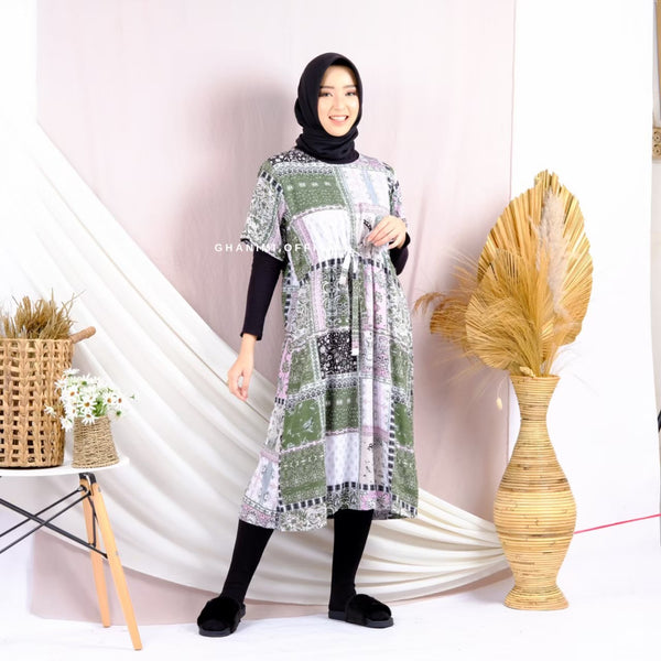 Rashwa Homewear Dress Pine