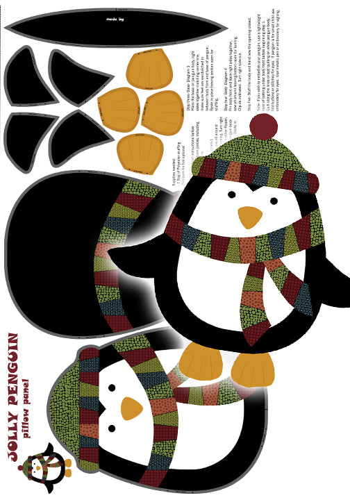 Jolly Penguin Pillow Panel