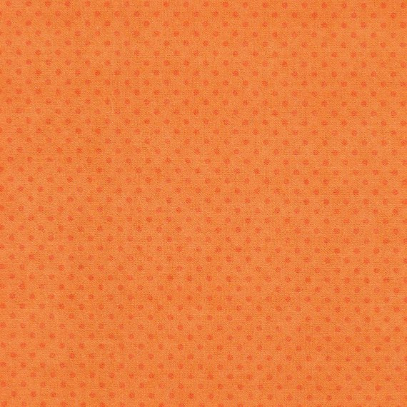 Orange flannel tone on tone small polka dots 108-2505