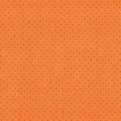 Orange flannel tone on tone small polka dots