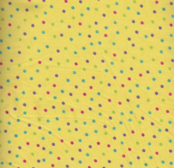 Flannel Yellow multi dots small 108-2573