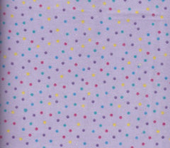 Flannel Purple multi dots small 108-2574