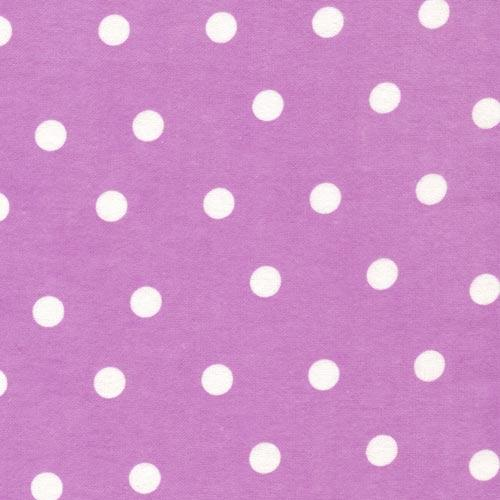 Purple flannel large white dots