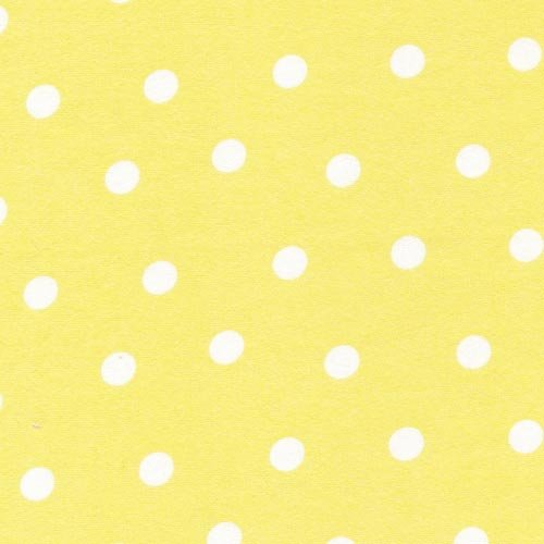 Yellow flannel large white dots