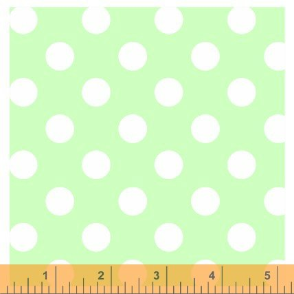 Windham Basics Pastels: Green Big Dot