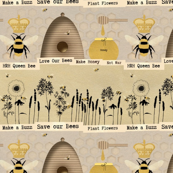 Save our Bees: Border Print