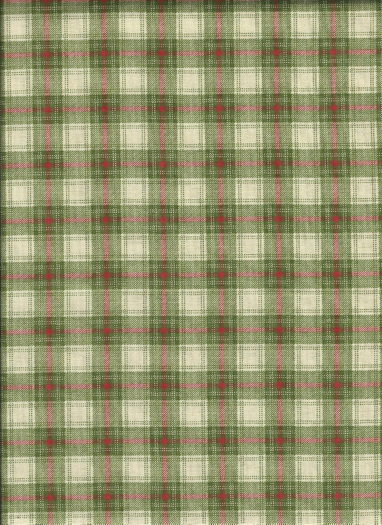 Very Merry Light green plaid - Fat Quarter