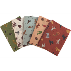 Small Things World Animals...White - Fat Quarter Bundles (5)
