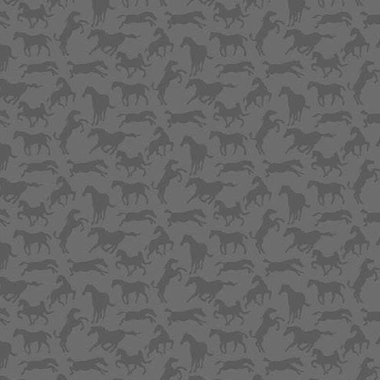 Thoroughbreds: Horse Silhouette in Grey