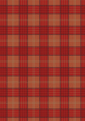 Celtic Coorie - Red and Warm Orange Check