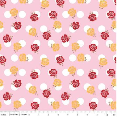 Sew Cherry 2: Flowers and Circles on Pink