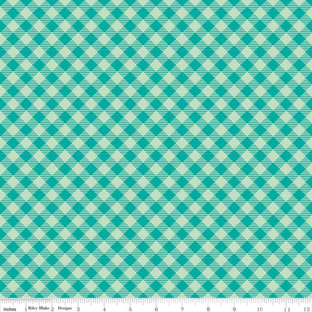 Bee Basics Gingham Teal