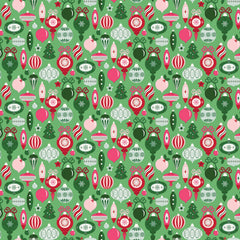 Merry and Bright Ornaments Light Green