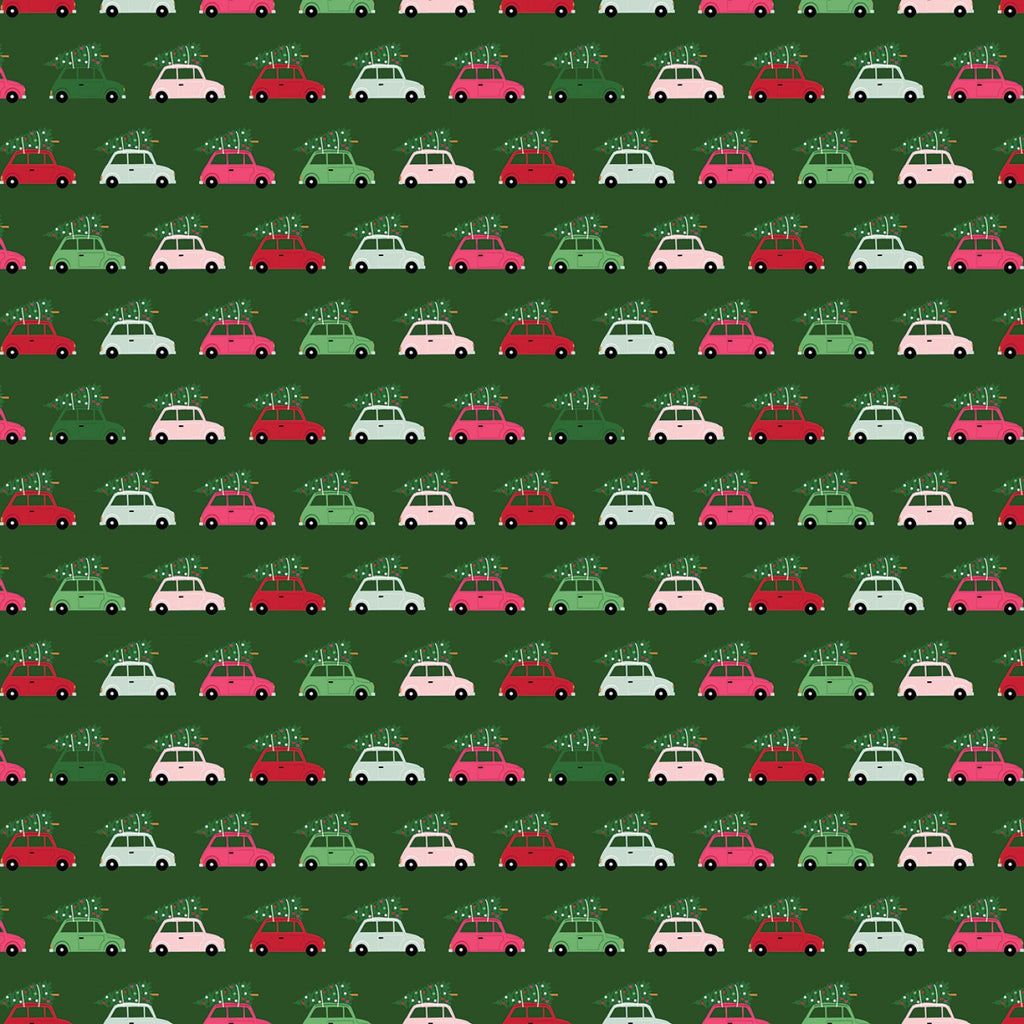 Merry and Bright Cars Green