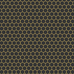 Honeycomb in Black and Honey