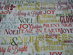 Postcards for Santa - Fat Quarter