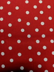Red flannel large white dots