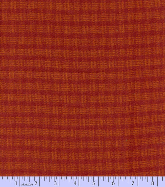 2 Sided Woven Flannel - Lumber Jack Plaid - Tattersall Red (Rust)