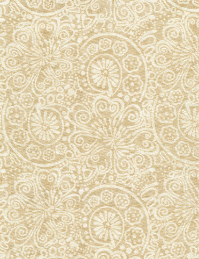 Tapestry: Flower Scrolls - Cream