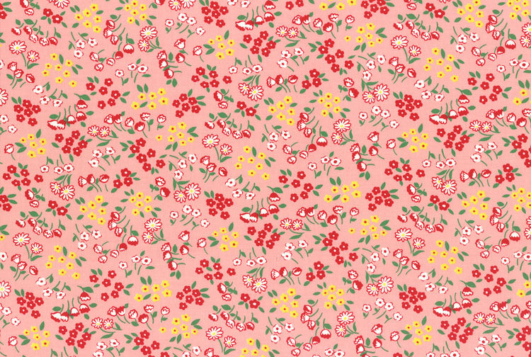 Fat Quarter - Old New Fabric Collection 30's: 31523 Pink
