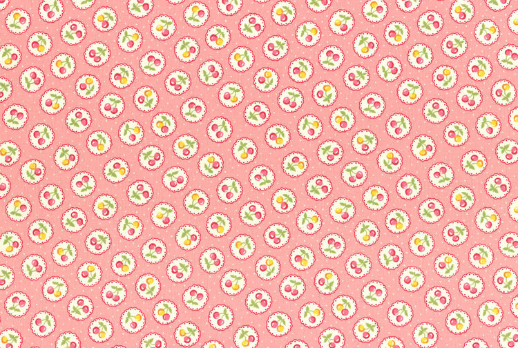 Fat Quarter - Old New Fabric Collection 30's: 31525 Pink