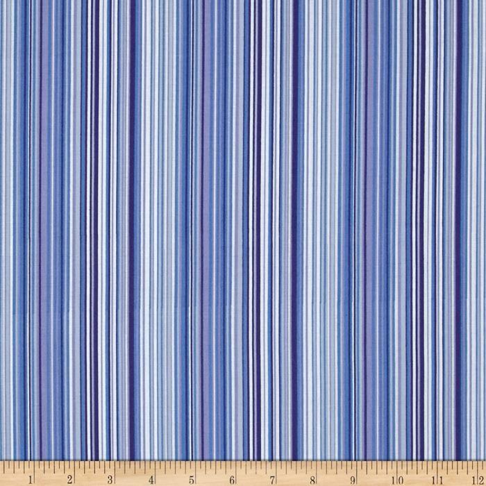 Music Collection; Stripe in Periwinkle - Fat Quarter