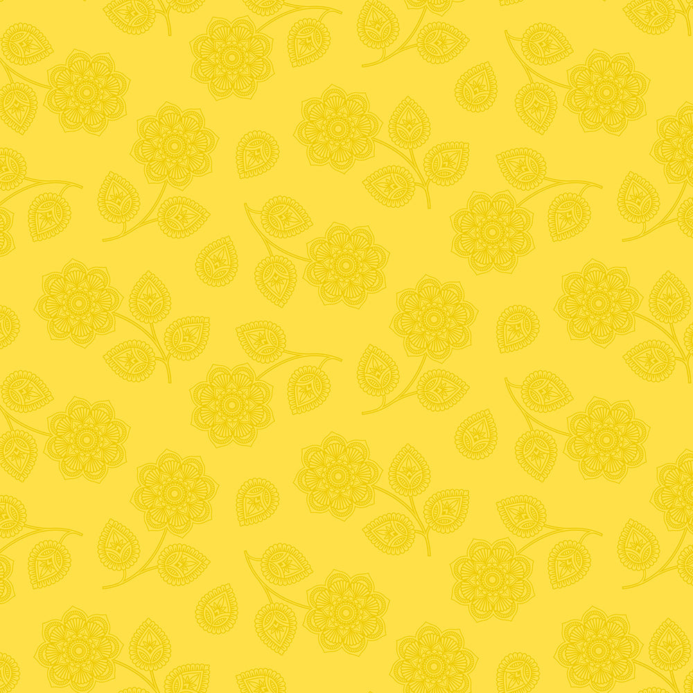Tula Pink - Eden Collection - Henna - Mustard Seed