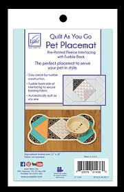 Pet Placemat - Quilt As You Go