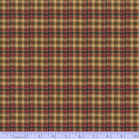 2 Sided Woven Flannel - Maple Lake Plaid - Red and Gold