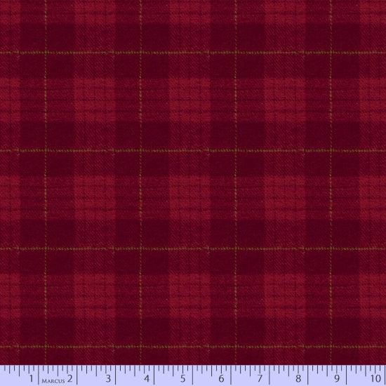 2 Sided Woven Flannel - Lumber Jack Plaid - Red