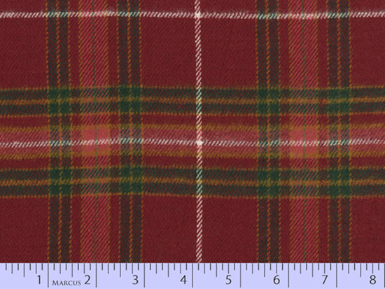 2 Sided Woven Flannel - Lumber Jack Plaid - Forbes Red