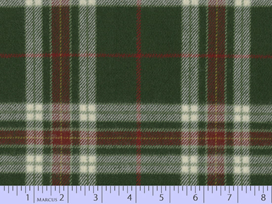 2 Sided Woven Flannel - Lumber Jack Plaid - Macleod Green