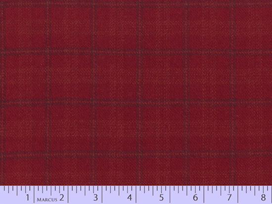 2 Sided Woven Flannel - Lumber Jack Plaid - Montgomery Red