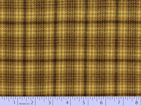 2 Sided Woven Flannel - Lumber Jack Plaid - Gordon Gold