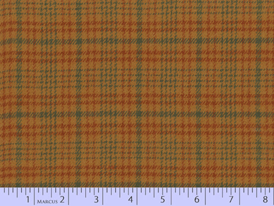 2 Sided Woven Flannel - Lumber Jack Plaid - Galloway Russet