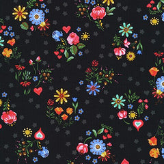 Hidden Canyon Jersey Knits - Flowers on Black