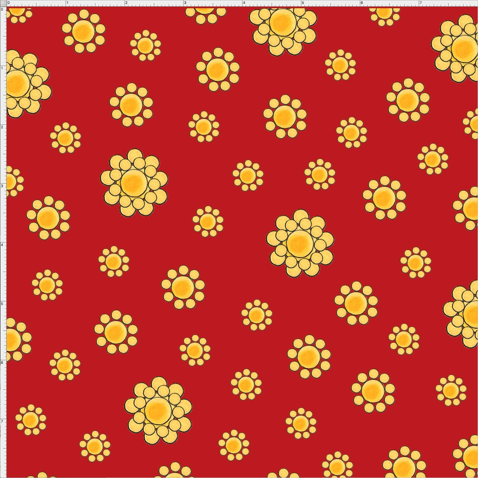 Whoa Girl! - Flowers on Red - Fat Quarter