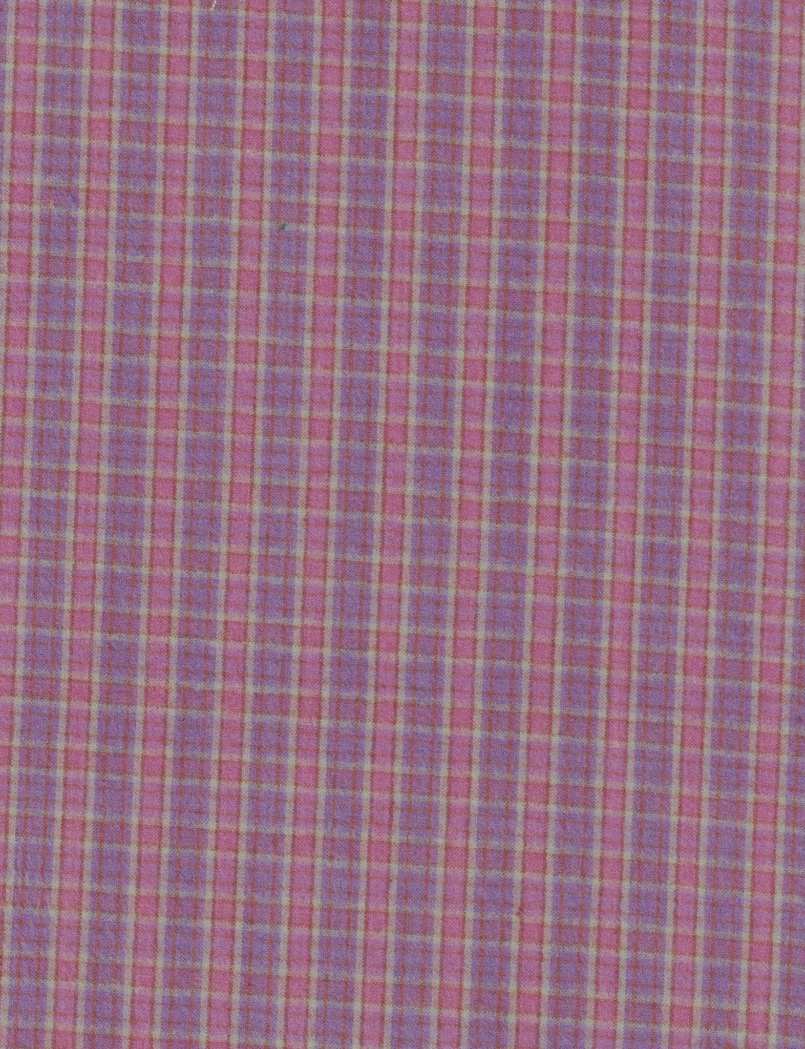 Yarn Dyed Cotton Flannel - Purple Plaid