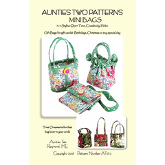 Aunties Two Patterns - Mini Bags Pattern