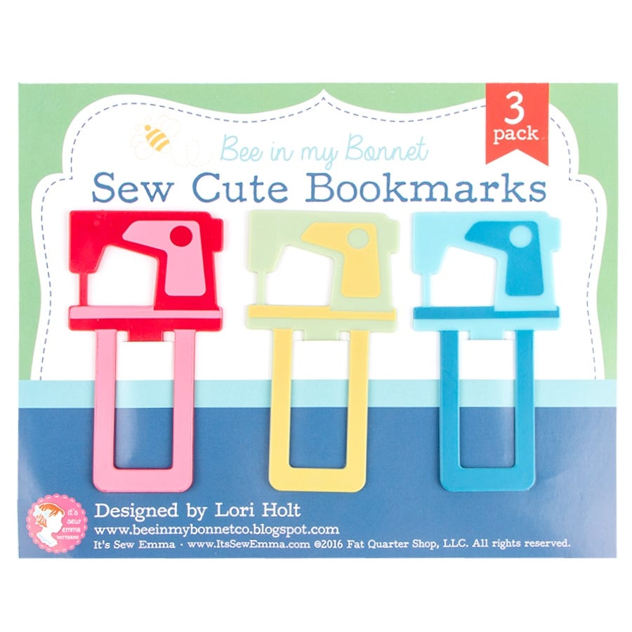 Bee In My Bonnet - Sew Cute Bookmarks 3 pk