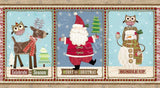 Bundle Up Celebrate The Season Christmas Fabric Panel