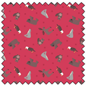 Small Things World Animals...Red - Fat Quarter Bundles (5)