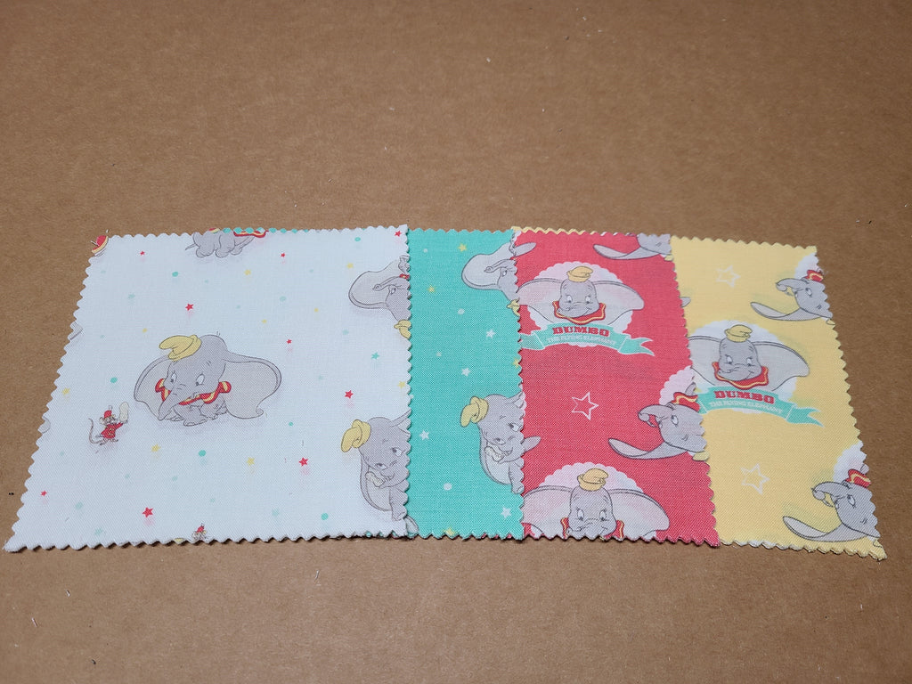 "Disney's Dumbo in the Circus 5"" Charm Squares"
