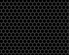 Honeycomb in Black and Grey