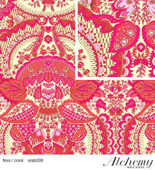 Alchemy: Flora in Coral Organic Cotton