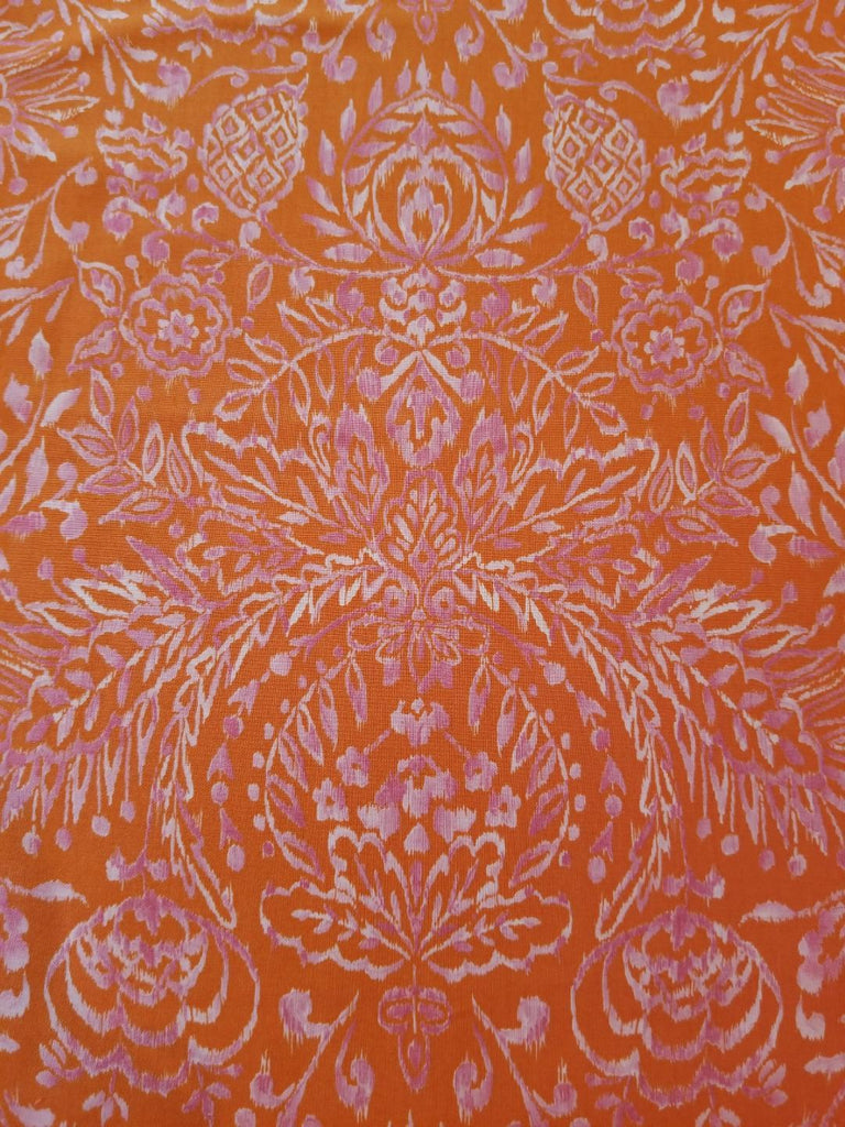 Tangier Ikat - Damask - Orange