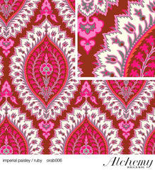Alchemy: Imperial Paisley in Ruby Organic Cotton