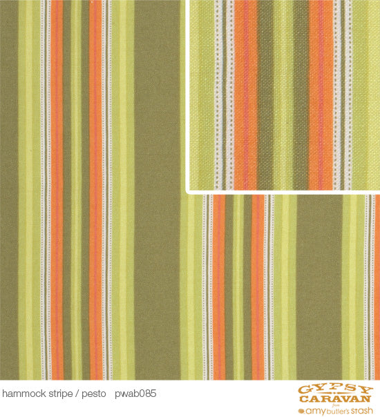 Gypsy Caravan: Hammock Stripe in Pesto