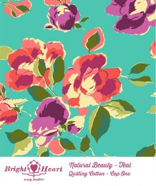 Bright Heart: Natural Beauty in Teal