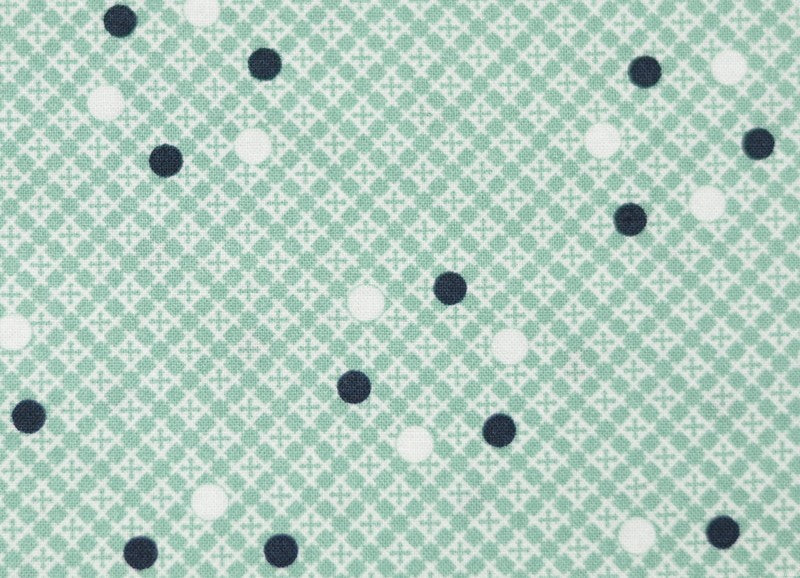 Florence - Dot Plaid - Malachite  FABRIC IS MAINLY GREEN, MAY LOOK BLUE ON SOME SCREENS